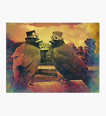 Steampunk Crows Photographic Print