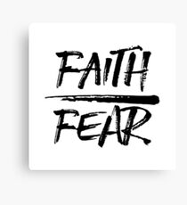 Faith Over Fear - Cool Christian Typography Canvas Print