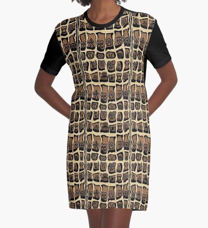Caramel Graphic T-Shirt Dress