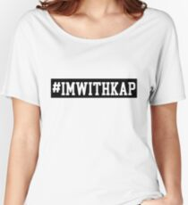 I'm with Kap #takeaknee T-Shirt Women's Relaxed Fit T-Shirt