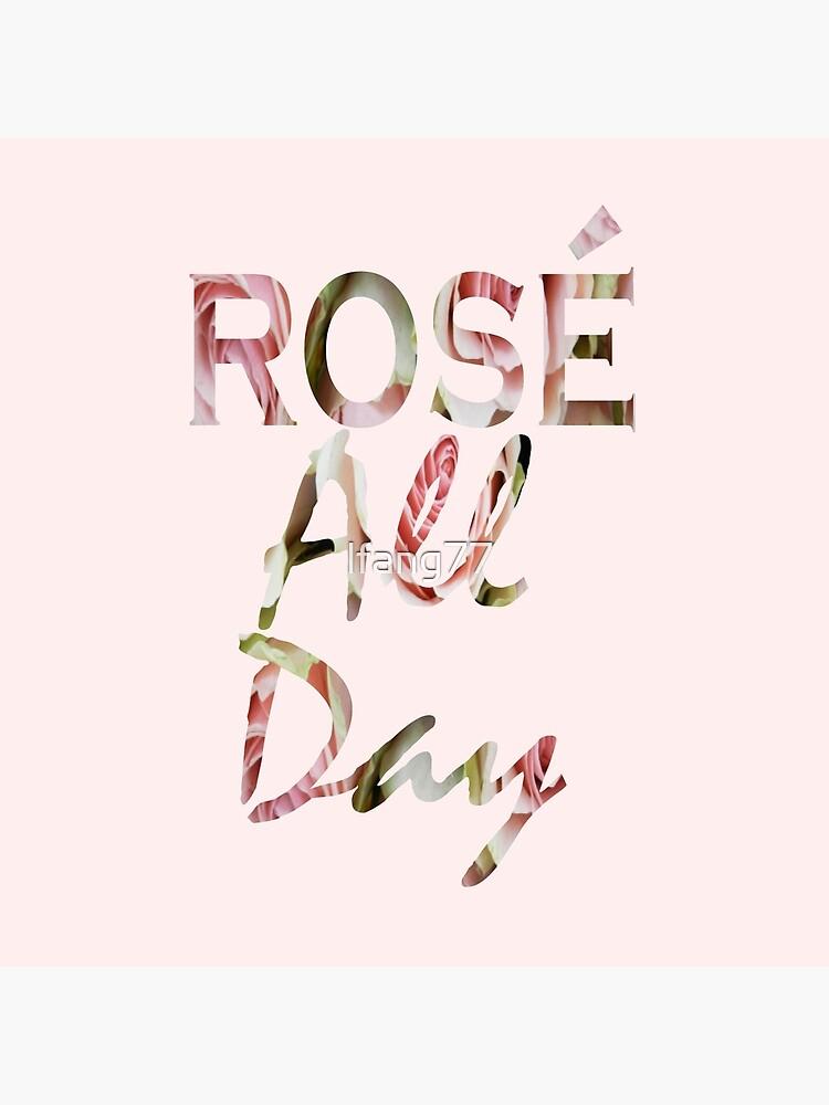 Rosafarbene Blumenweine Paris-Liebhaber-Typografie stieg den ganzen Tag von lfang77