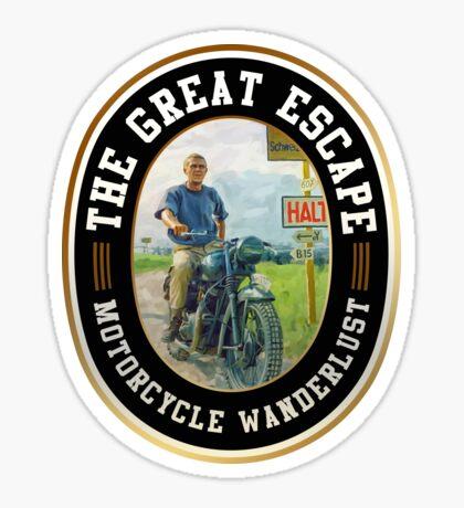 Steve McQueen The Great Escape Motorcycle T-shirt Sticker Sticker