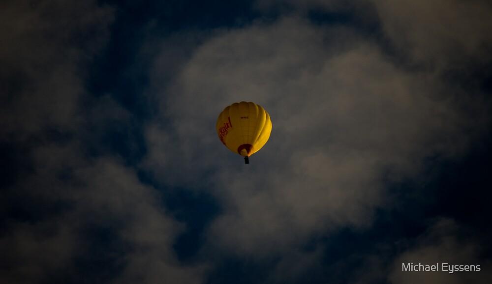 Blue Sky Yellow Balloon by Michael Eyssens