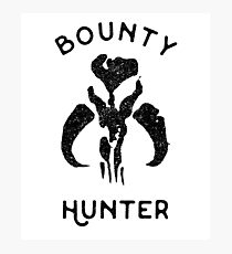 Bounty Hunter Fett Shirt Photographic Print