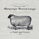 Primitive burlap french country farmhouse chic vintage sheep by lfang77