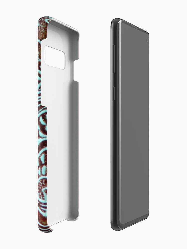 Alternate view of Primitive cowboy cowgirl western country brown turquoise leather  Case & Skin for Samsung Galaxy