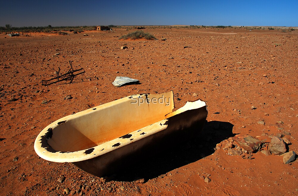 Abandoned Bath in outback SA by Speedy