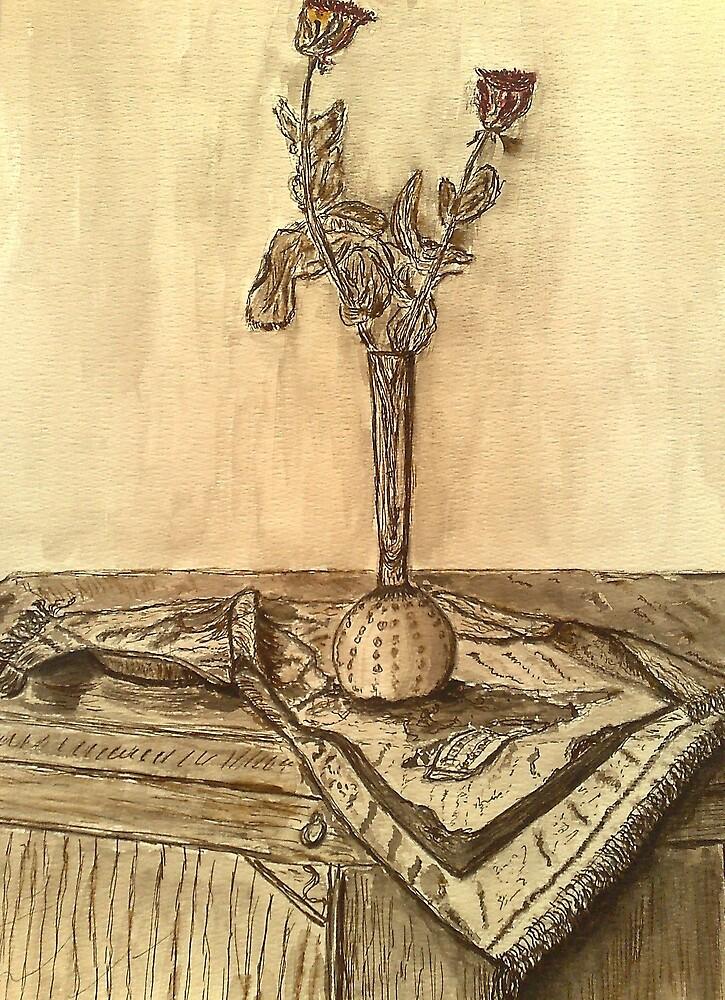 Roses in sepia by zangi12