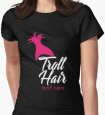 Troll Hair Don't Care T shirt Women's Fitted T-Shirt