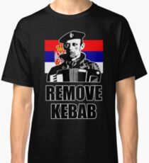 Remove Kebab with Serbian flag Classic T-Shirt