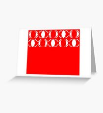 Abstract pattern - red and white. Greeting Card