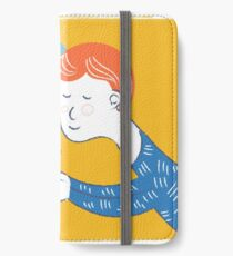 Cute couple in love. Design for Valentines Day and other. Vector art in modern hipster style. iPhone Wallet/Case/Skin