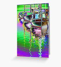 Couta boats at wharf Greeting Card