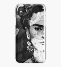 Black And White Frida Kahlo by Sharon Cummings iPhone Case/Skin