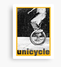 unicycle 2 Canvas Print