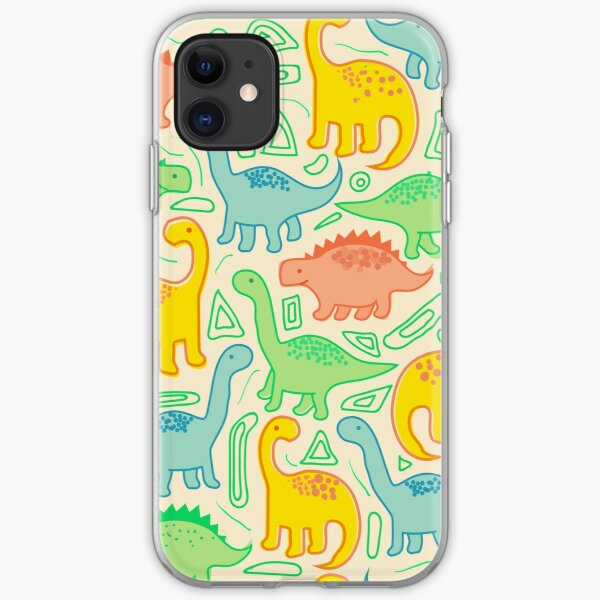 Dinosaur party iPhone Soft Case
