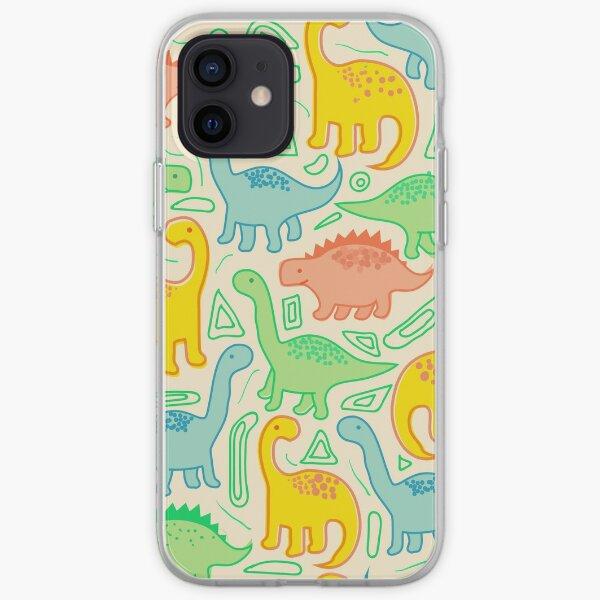 Dinosaur party iPhone Soft Case