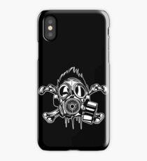Cross Bones Gasmask iPhone Case/Skin