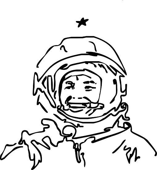 Astronaut - Cosmonaut Gagarin  von E-xerix