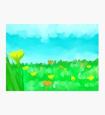 Flower Field Photographic Print