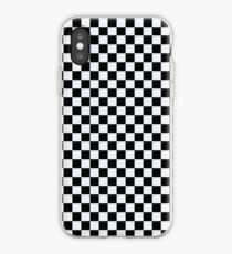 black and white checkered iPhone Case