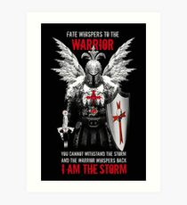 Knight's Templar Warrior Art Print