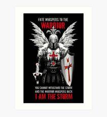 Knights Templar Warrior Art Print