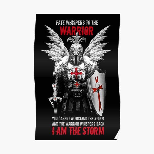 Knights Templar Warrior Poster