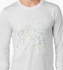 Particles Background. Colorful Confetti Isolated on White Background. T-Shirt