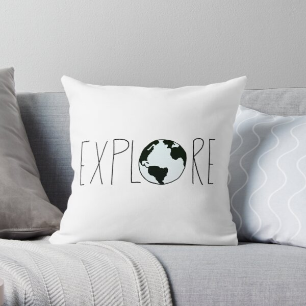 Explore the Globe Throw Pillow