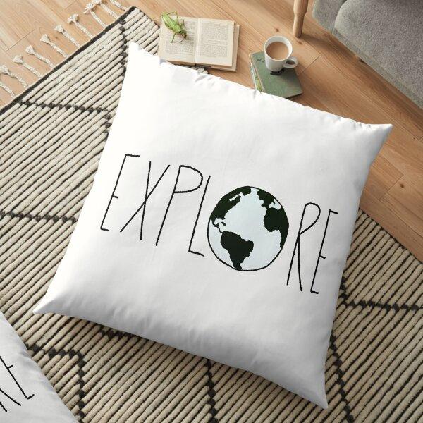 Explore the Globe Floor Pillow