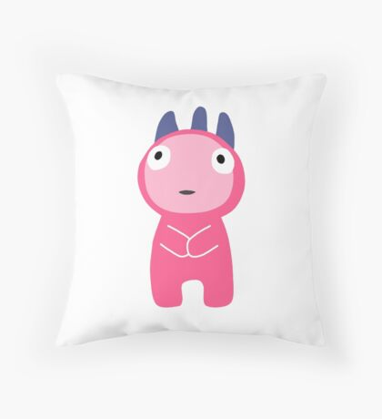 Pink Monster Throw Pillow