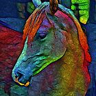 Colorful Horse by © Kira Bodensted
