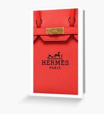 Hermes Bag cute Greeting Card