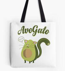 Bolsa de tela AvoGato Funny Avocado Cat Pun