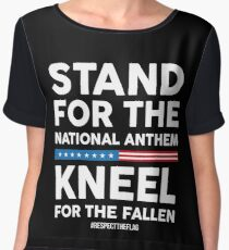 Stand For the National Anthem, Kneel For The Fallen! Chiffon Top