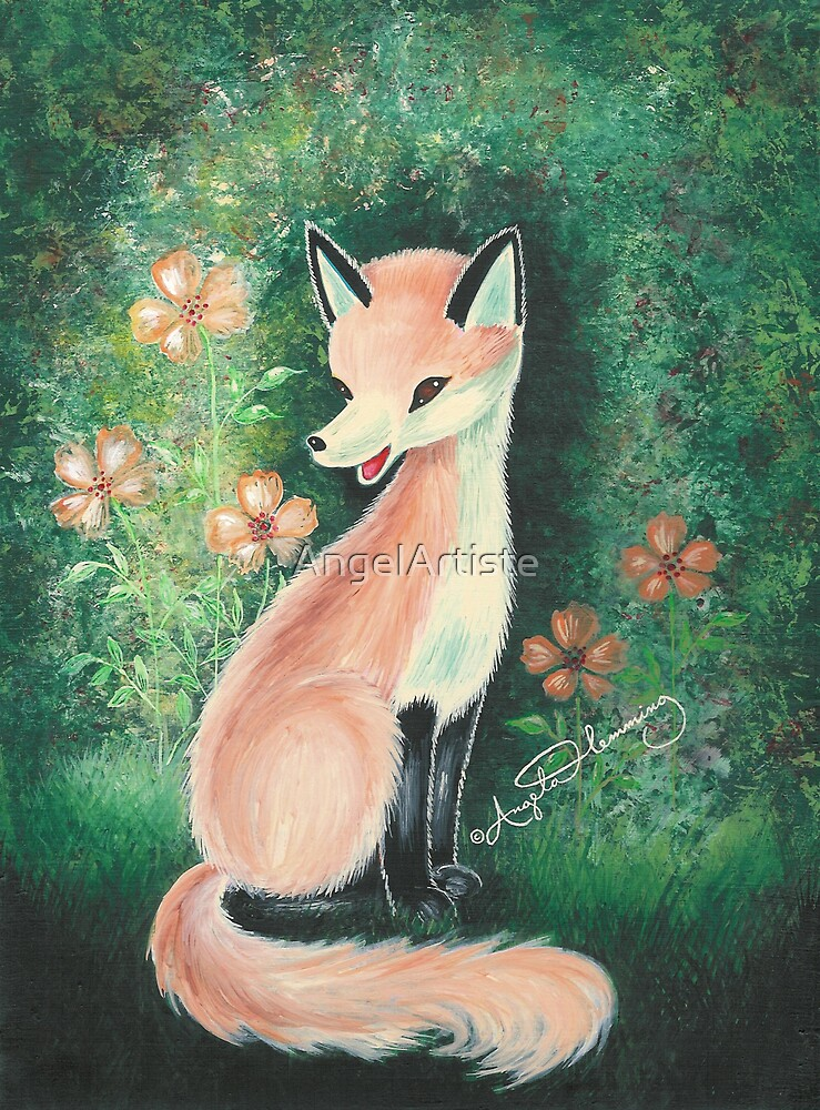 The Pretty Red Fox by AngelArtiste