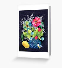 Flowers and Strawberries Greeting Card