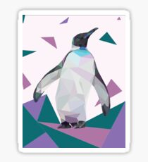 Purple Geo-Penguin Sticker