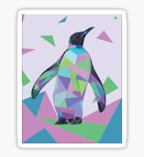 Rainbow Geo-Penguin Sticker