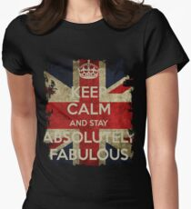 Keep Calm and Stay Absolutely Fabulous Women's Fitted T-Shirt