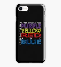 Purple Yellow Red and Blue (Portugal. The Man) iPhone Case/Skin