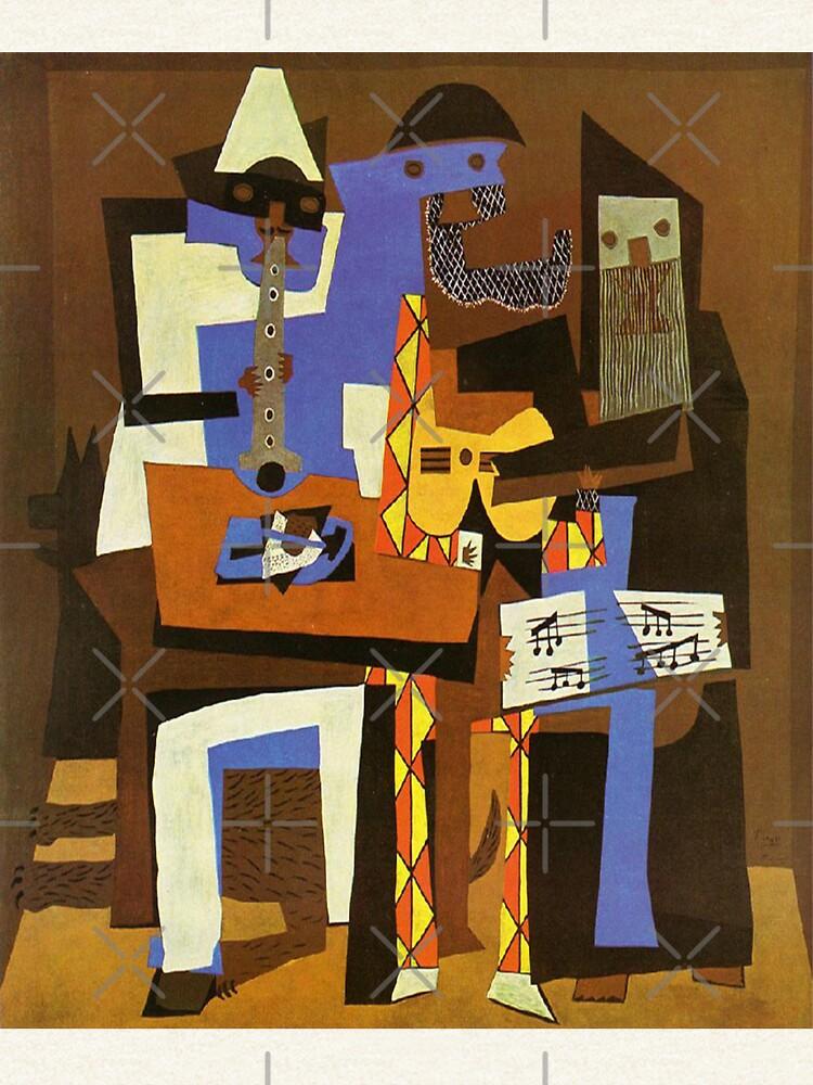 Tres músicos por Pablo Picasso de LexBauer