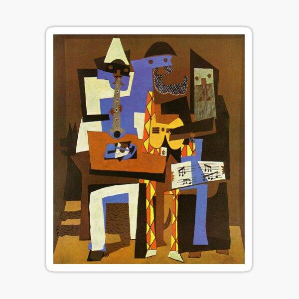 Three Musicians by  Pablo Picasso Sticker