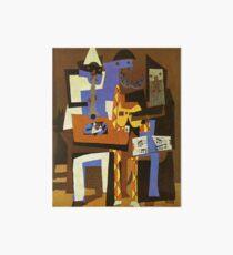 Three Musicians by  Pablo Picasso Art Board