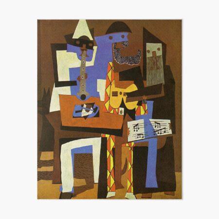 Three Musicians by  Pablo Picasso Art Board Print