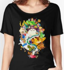 Studio Ghibli Watercolor Collage Women's Relaxed Fit T-Shirt
