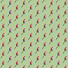 Red Macaw Parrot repeat pattern design by Extreme-Fantasy