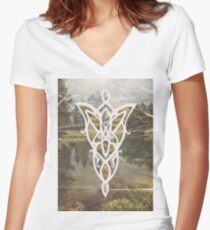 Evenstar Polyscape Women's Fitted V-Neck T-Shirt