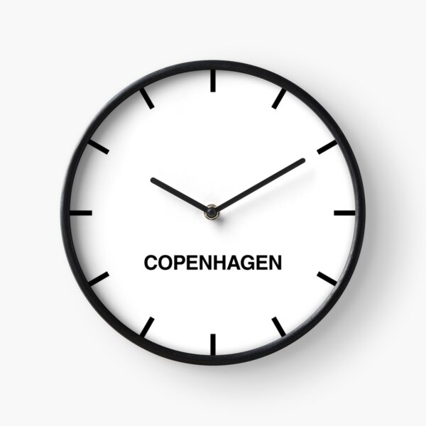 Newsroom Wall Clock Copenhagen Time Zone Clock